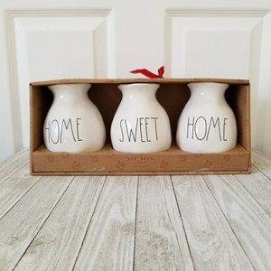Rae Dunn Home Sweet Home Vase Set NEW IN BOX